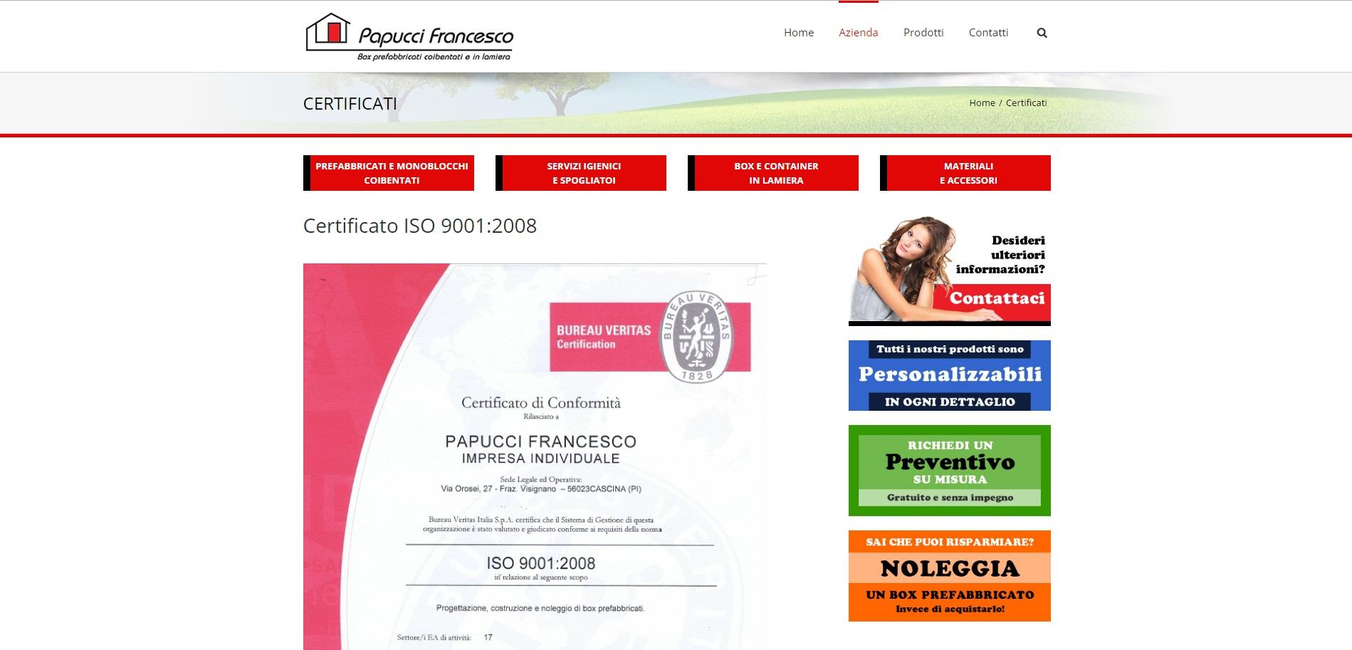 certificati-iso-papuccibox